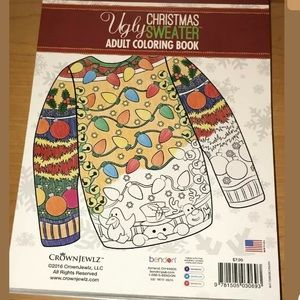 Ugly Christmas Sweater Adult Coloring Book (NEW)